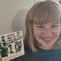 Caleista got the autograph