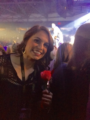 Katie caught a rose from Brett