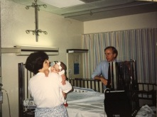 Hope, Karen and Dr. Bell on the day we went home from the hospital