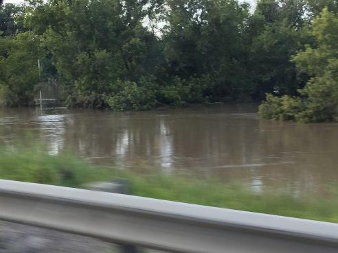 Bulging creeks in northern Illinois July 2017.
