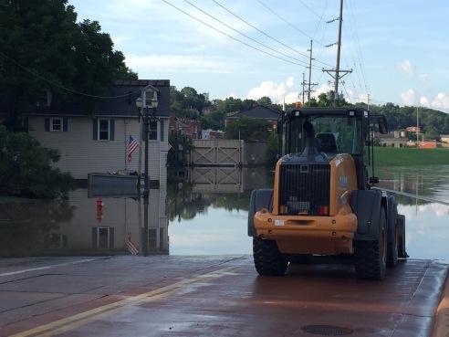 Flood gates closed July 22 in Galena, IL.
