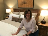 Comfy Stearns & Foster bed at The Guest House. I'm standing on the ground.