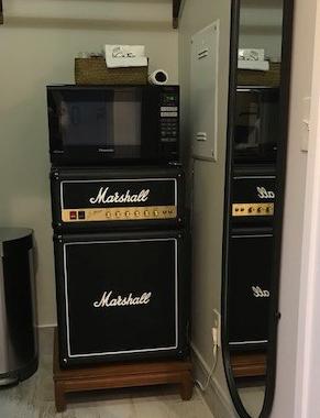 Don't plug your guitar into this fridge.