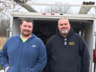 Volunteers Ryan Nafsinger and Mike Steffa